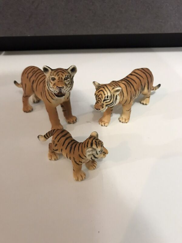 Schleich family Tiger Cub Figure Toy 2003 Germany Wild Animal Jungle collectible