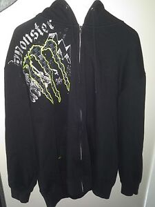 Men's Monster Energy Zip Up Hoodie - XL