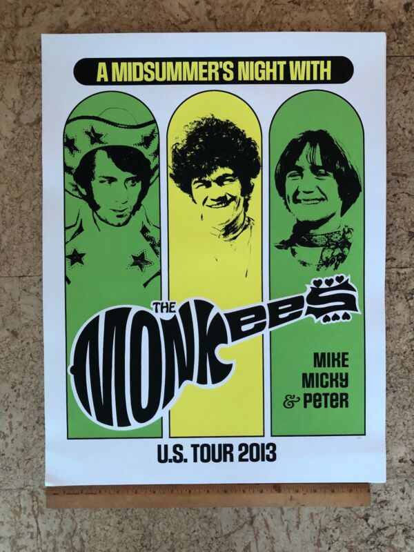 2013 THE MONKEES TOUR POSTER NUMBERED Michael Nesmith Peter Tork Micky Dolenz