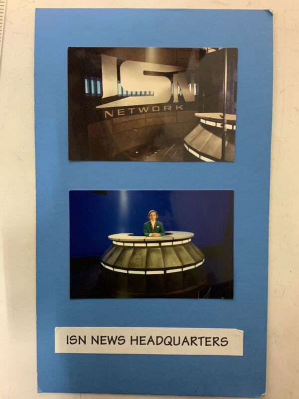 Babylon 5 ISN News Headquarters Photos On Board Used In Set Prop Production