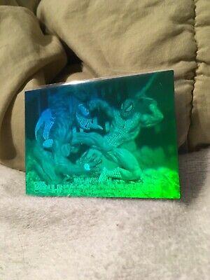 1993 3-D hologram card , Spider-Man vs Venom