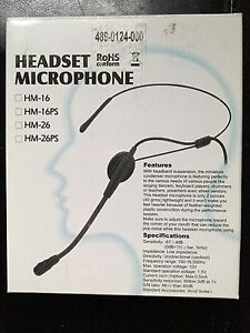 Headband Microphone with TA4F Connector