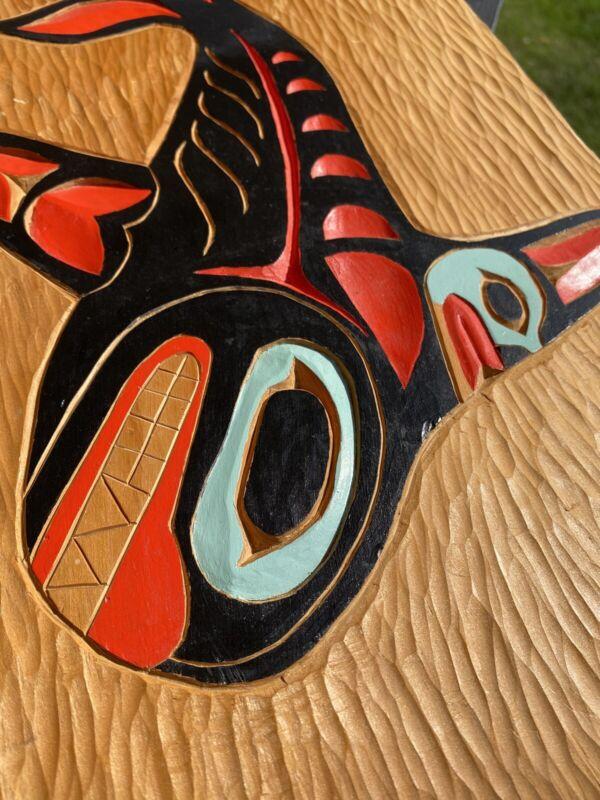 Northwest Coast killerwhale Plaque signed John Bartels Tlingit