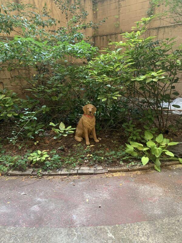 "Sandicast Life Size Golden Retriever Dog Statue Sculpture Hunting 29"" Tall"