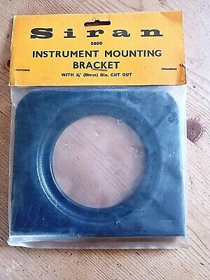 Instrument Panel Gauge Mounting Bracket Black NEW. 89mm dia Hole. classic retro