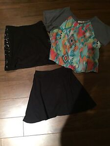 Youth size 7/8 skirt and top lot