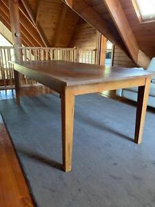 Hardwood timber dining table - seats 8 people