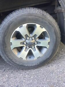 "18"". Ford F-150 rims and tires"