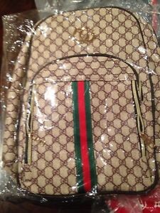 Gucci  back pack and Luis Vuitton