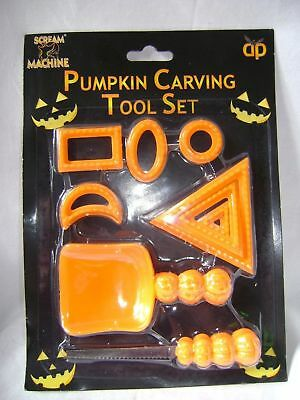NEW 9 PIECE PUMPKIN CARVING TOOLS SET FOR HALLOWEEN SPOOKY SCARY PUMPKINS