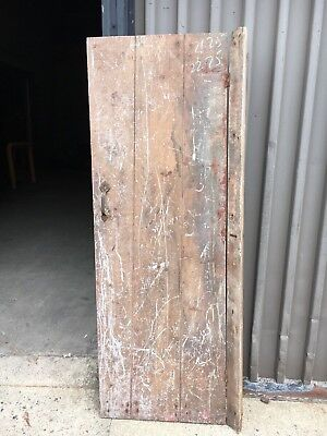 """c1820 feathered board door old Paint 71"""" x 22.75"""" orig hinges solid no warping  for sale  Tolland"""