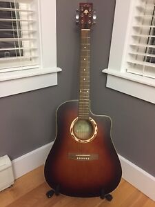 Art & Lutherie Wild Cherry Dreadnought Cutaway Acoustic Guitar
