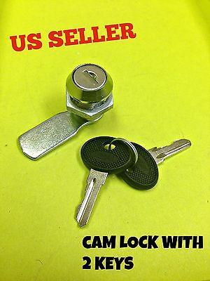 Cam Lock File Cabinet Mailbox Desk Drawer Cupboard Locker With 2 Keys 90