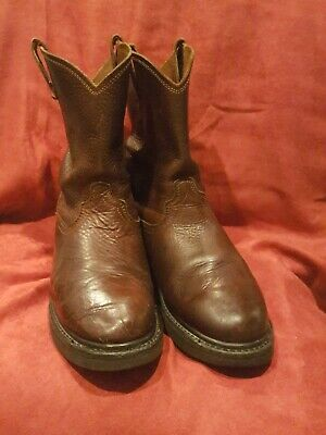 Dan Post DP69622 Size 9D Rigger Briar Oiled Leather Western Work Boot BROWN POC