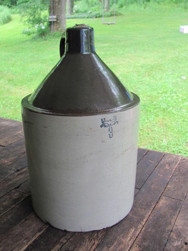 Original America Antique US Standard 3 Gallon Stoneware Moonshine Jug With Eagle