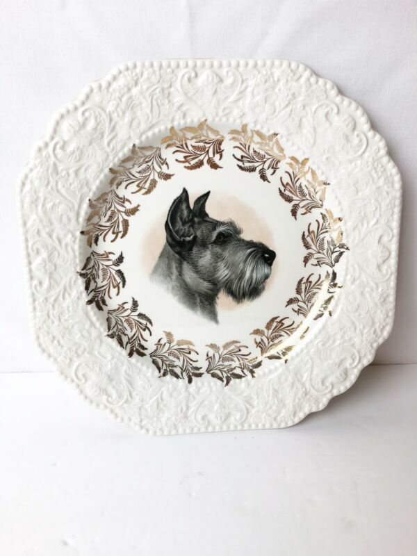 Lord Nelson Pottery Schnauzer Terrier Plate