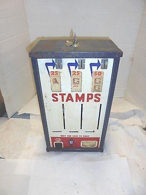 vintage postage stamp vending machine shipman manufacturing 3 bay wall mount #2