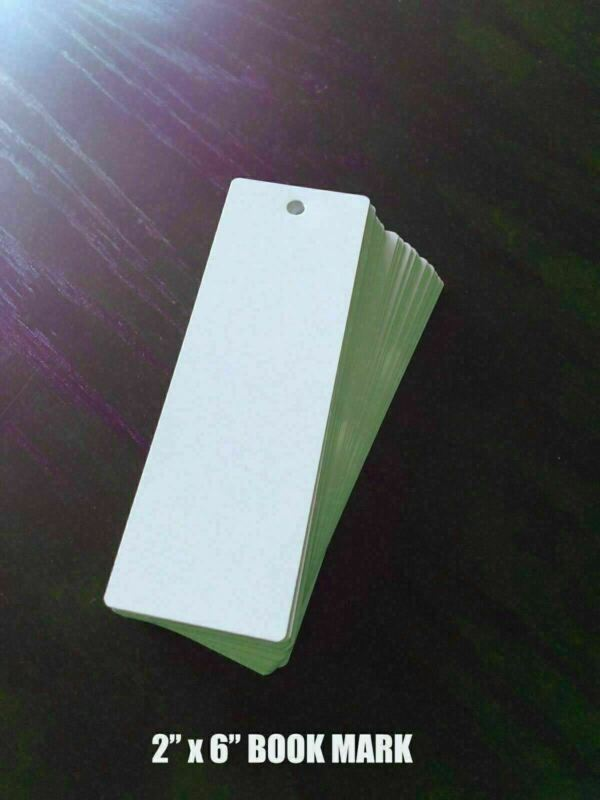"50ea Dye Sublimation Aluminum Bookmarks 2""x6"" w/Hole"
