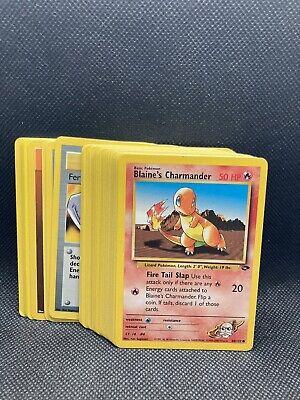 Complete Pokémon Gym Challenge Common Set 48 cards NM-Mint WOTC Vintage