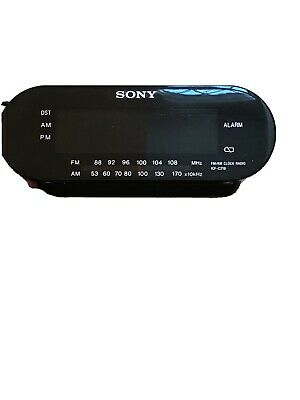 Sony Dream Machine Alarm Clock AM FM Radio ICF-C218 Black Preowned Tested