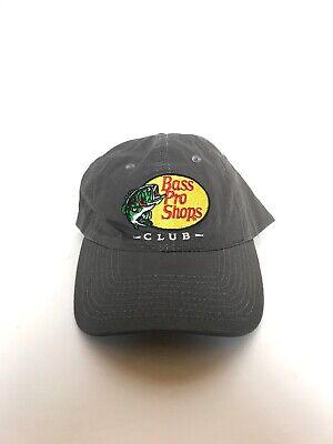 Bass Pro Shops Club Hat Ball Cap Gray Adjustable Back 100% Cotton Pro Cotton Cap