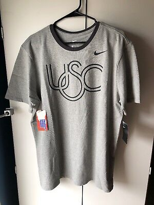 Usc Mens Ring (Nike USC Trojans Ring Athletic Cut T Shirt Heather Mens XL)