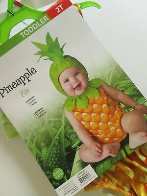Toddler PINEAPPLE COSTUME 2T One Piece Suit & Hood NEW Fruit 2pc NWT - Baby Costumes Walmart