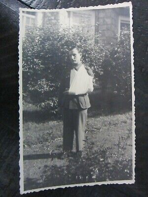 Original WWII German Army Soldier Poses Wounded in Bandage Sling Photo