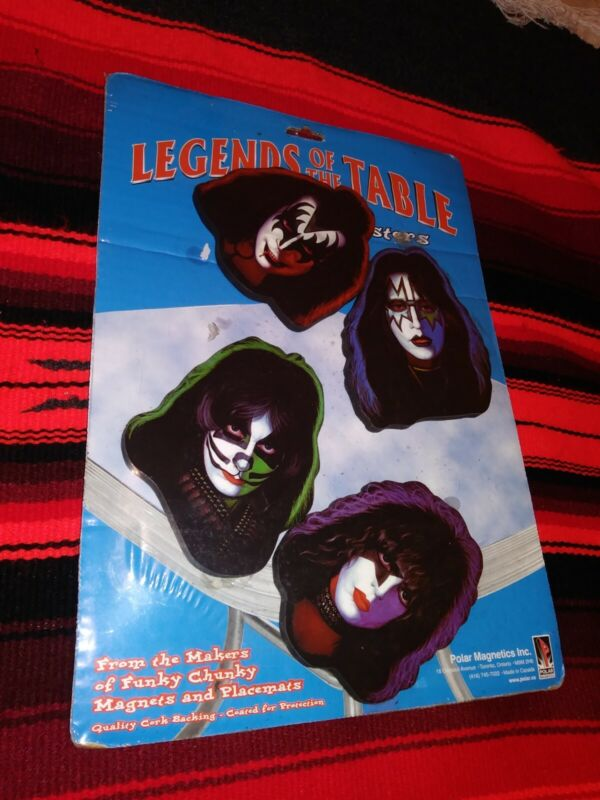 Kiss coasters set- legends of the table 1977 Unopened-mint in package!KISSMERCH!