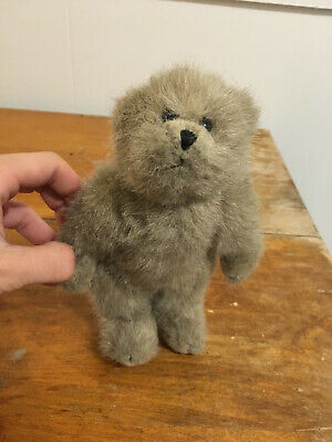 "Vintage Steiff Bear 8"" Grey Pad Hands Feet HEADS UP Moveable Toy"