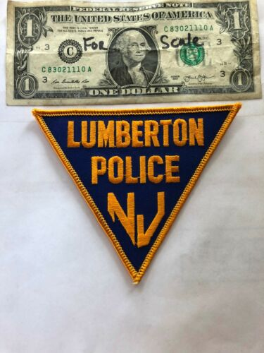 Lumberton New Jersey Police Patch un-sewn in Great Shape