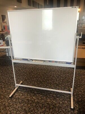 Smarty Hippo Standing Mobile Whiteboard 48x36portablemagnetic Dry Erase-new