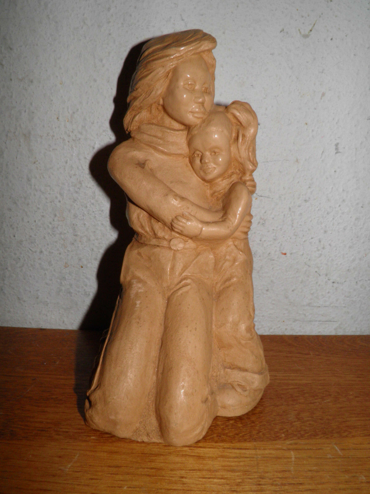 Sculpture Mother Daughter 1983 Retro Signed REW 8 Priced To Sell 20.00 OFF  - $38.84