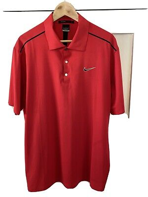 Nike Golf Tiger Woods Collection Dri-Fit Polo Shirt Mens Large