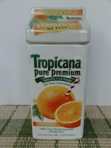 Vintage Tropicana 100% Florida Pure Premium Orange Juice Ceramic Cookie Jar