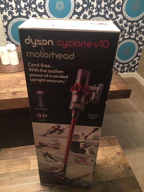 Dyson Cyclone V10 Motorhead Cord-Free Vacuum Iron/Sprayed Red/Red 244393-01