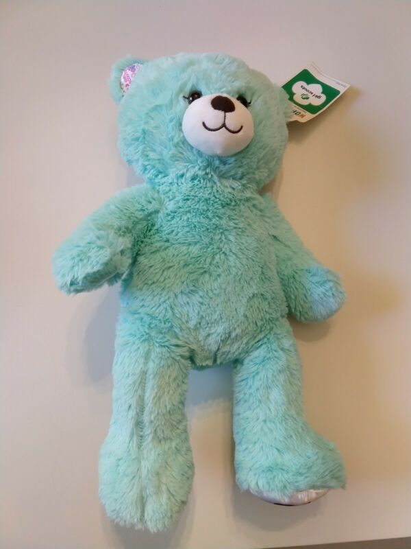 """New with tags 16"""" Build a Bear THIN MINTS Green Plush GIRL SCOUTS Cookies Rare"""