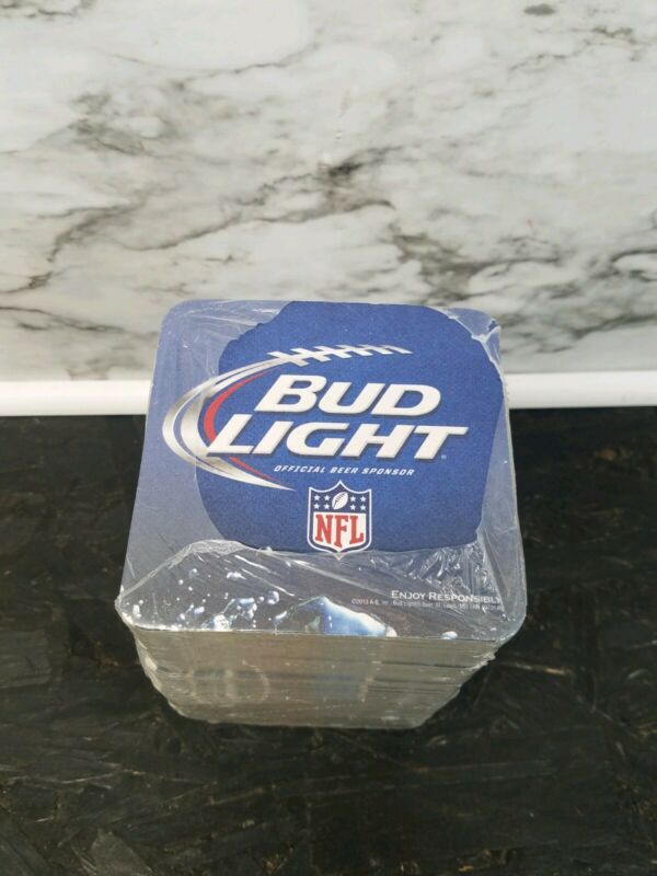 Bud Light NFL OFFICIAL beer Coasters Man Cave Drink All Teams New