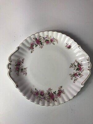 Vintage Royal Albert Lavender Rose Handled Cake Plate/Platter Bone China 1961 ()