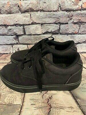 Heelys Launch Skate Shoe Black Canvas Size 4 youth USA