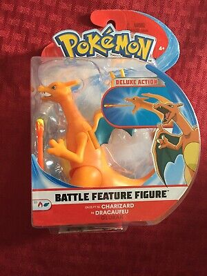 "🐉 Charizard Pokemon Battle Feature Figure Deluxe Action 4.5"" Series 3 New 🐉 AM"
