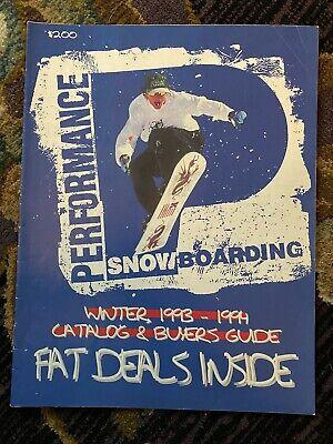Vintage Performance Snowboarding Snowboard Catalog Brochure 1993 1994 Burton Gnu