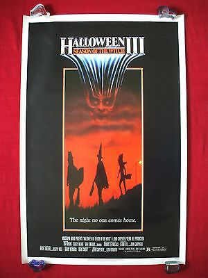 HALLOWEEN 3 III *1982 ORIGINAL MOVIE POSTER SEASON OF THE WITCH MASK ROLLED NM-M (Halloween The Movie Mask Origin)