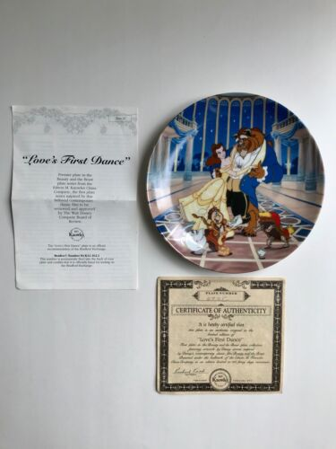 Disney Beauty and the Beast Knowles Bradford Exchange Collector's Plate COA 1992