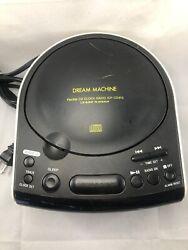 Sony CD Clock Dream Machine ICF-CD815 AM FM Radio Dual Alarm AUX Input & CD