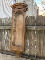 Antique Austrian Walnut Veinna Regulator Wall Clock Case