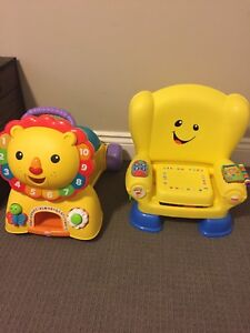 Fisher price ride on lion and laugh an learn chair
