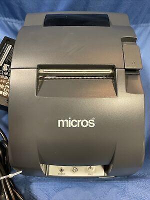 Micros Epson Tm-u220b Idn Dot Matrix Receipt Printer M188b W Power Supply