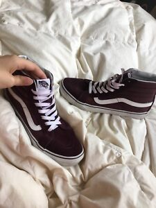 Unisex high top vans (Old School) SIZE 9 WOMEN/SIZE 7.5 MEN