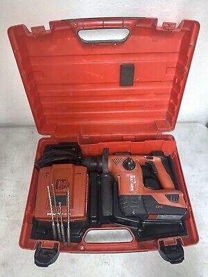 Hilti Te4-a18 Sds Plus Rotary Hammer Sfh-18-a Drill Cordless 18v W Case Bits